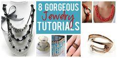 8 Gorgeous DIY Jewelry Tutorials  howdoesshe.com #jewelry