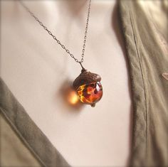 Lovely acorn necklace $22.00