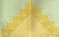 CROCHE COM RECEITA: Barrados em croche modelo quatro cantos