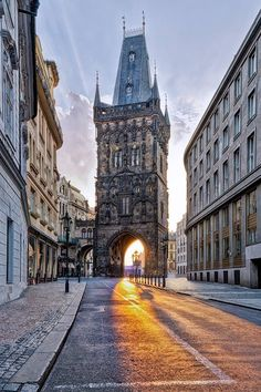 Powder Tower - the gate to Old Town of Prague, Czechia