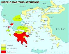 Grecias - Imperio ateniense - Ligas de Delos y del Peloponeso