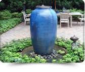 Image result for freestanding outdoor urn fountains