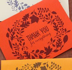 {Printable Cards} Say Thank You For Everything