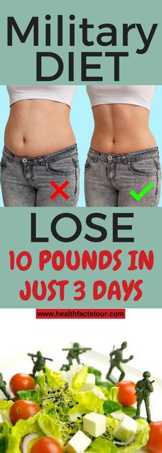 Military Diet: Lose 10 Pounds In Just 3 Days