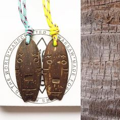 Check out our new TOTEM surfboard necklaces, you Can wear them both sides, check out more at www.elcoco.pl 🌴🌊 #elcocopoland#findelcoco#surf#surfboard#surfart#surfer#totem#aloha#mask#coconut#jewelrydesign#wooden#palm#palmtrees#puravida#aloha#ocean#vscocam#vscopoland#igersoftheday#warsaw#skatelife#bmx#necklace#artist#handcrafted#crafts#handmadejewelry#watchthisinstagood#african#moodygrams Surf Art, Warsaw, Bmx, Palm, Handmade Jewelry, Coconut, African, Ocean, Necklaces