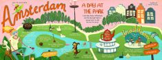 Do as the locals do. Visit the park on a weekend day when you're on a city trip. Check out this map of Amsterdam's Vondelpark with the usual things the Dutchies do on one of those days. #travel #Amsterdam @localfriend_co