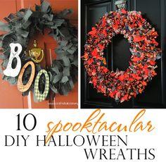 10 spooktacular DIY Halloween wreaths with tutorials