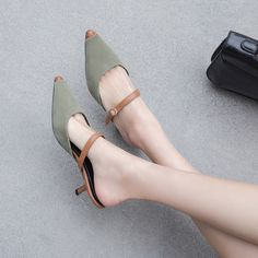 Chiko Kellsie Pointed Toe Kitten Heels Clogs / Maultiere - Sandals and shoes idea - Schuhe Lace Up Heels, Pumps Heels, Stiletto Heels, Women's Shoes, Shoe Boots, Dress Shoes, Dress Outfits, Mules Shoes, Ankle Boots