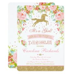 #shower - #Elegant Unicorn Baby Shower Invitation