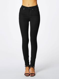 Image for Guess 1981 High Rise Skinny Silicone Rinse Black Wash from Just Jeans