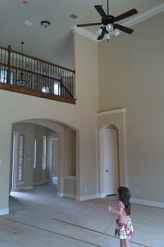 Frugal and Fabulous: Choosing Paint Colors High Ceilings - SW Nomadic Desert Tan Paint Colors, Ceiling Paint Colors, Colored Ceiling, Paint Colors For Living Room, Interior Paint Colors, Paint Colors For Home, House Colors, Interior Design, Interior Decorating