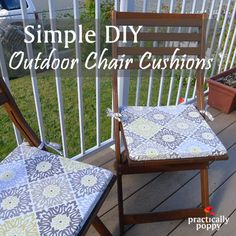 Amazing Easy To Make Outdoor Chair Cushions  Step By Step Instructions