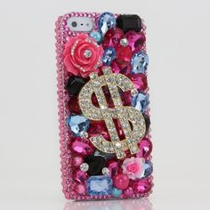 iphone 5 Luxury 3D Swarovski Crystal Diamond Dollar Sign Design Bling Case Cover (100% Handcrafted by BlingAngels): Cell Phones #etsy #handmade #gift #quote #iphone case #christmas #case #craft #DIY