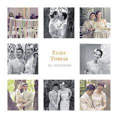 Dankeskarten Hochzeit 8 fotos weiß