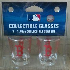 Brand new set of 2 boston red sox shot glasses | Sports Mem, Cards & Fan Shop, Fan Apparel & Souvenirs, Baseball-MLB | eBay!