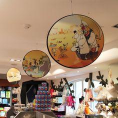 The Moomin Shop by PLANarama Moomin Shop, Retail Interior, Globe, Mirror, Furniture, Shopping, Interiors, Home Decor, Lapland Finland