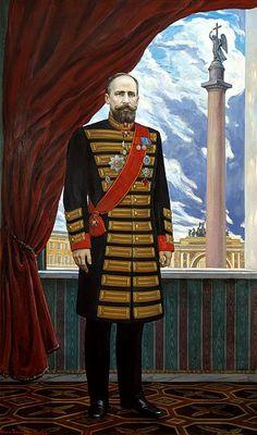 Ilya Glazunov - Portrait of Pyotr Stolypin. 900 Classic russian paintings