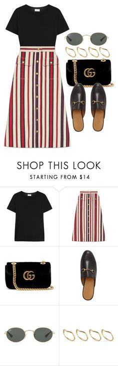 """#14797"" by vany-alvarado ❤ liked on Polyvore featuring Yves Saint Laurent, Gucci, Ray-Ban and ASOS"