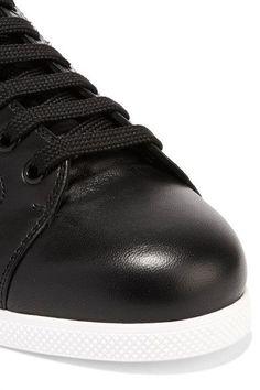 Alexander McQueen - Studded Leather Sneakers - Black - IT36.5