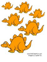 """Dinosaur File Folder Game, Reid isn't quiet there at 25 months, but he loves his """"dinosaurs"""" game!"""