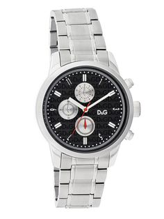 D & G Women's Stainless Steel Chronograph Watch