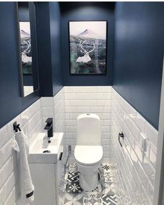 Small Downstairs Toilet, Small Toilet Room, Guest Toilet, Small Toilet Decor, Bathroom Design Small, Bathroom Layout, Bathroom Interior Design, Bathroom Designs, Small Toilet Design