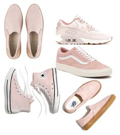 """""""Pale Pink Kicks"""" by ashleeniethammer on Polyvore featuring UGG, NIKE, Madewell and Vans"""