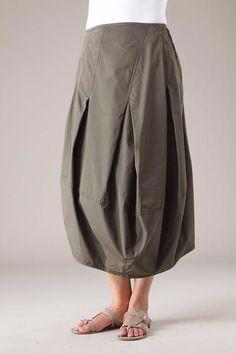 переделка юбки в складку?
