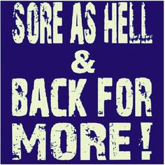 What part of your body is the most sore from yesterday's class? The proven cure for sorenes… more shaking (; !! #getbackinhere #beatthesoreness