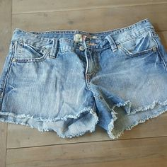 Ultra Low Waist Jean Shorts 100% cotton.  Soft and distressed on purpose in some areas. Old Navy Shorts Jean Shorts
