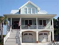 Old florida style key west home new construction in olde for Beach house plans with garage underneath