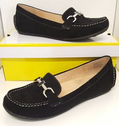 ac55214e6d09 Designer Liz Claiborne Black Comfort Slide LC Ashton Raise Dress Loafers  8.5 M  LizClaiborne