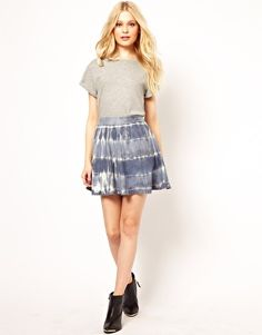 River Island Flippy Tie Dye Skirt