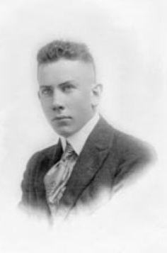 John Steinbeck around 1920. Taken from the wall of Salinas High School