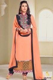 Manjaree Peach Color Bollywood Celebrity Replica Suits for Wedding #salwar suit, #bollywooddress more: http://www.pavitraa.in/wholesale-catalog/karishma-kapoor-designer-salwar-kameez-online/