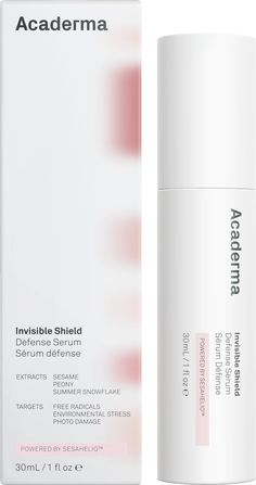 Invisible Shield Defense Serum provides a revolutionary long-lasting daily antioxidant protection, and improves skin appearance and vitality. Cosmetic Packaging, Beauty Packaging, Packaging Design, Bottle Packaging, Product Packaging, Invisible Shield, Cosmetic Design, Light Pollution, Hair And Beauty