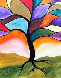 Afbeeldingsresultaat voor easy acrylic painting ideas trees