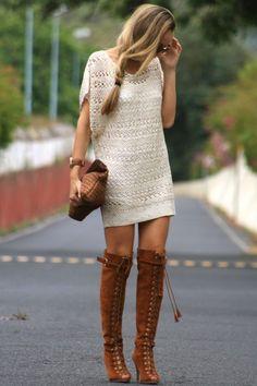 tejido + botas