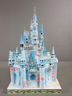 Disney Traditions Jim Shore Signed Cinderella CASTLE OF DREAMS 4007221 RARE Disney Gift, Disney Home, Disney Crafts, Disney Cinderella Castle, Disney Castles, Deco Disney, Disney Treasures, Disney Ornaments, Disney Figurines