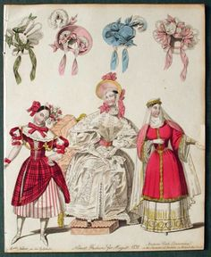 Can't read the caption very well.  Looks like morning (?) and theatre dress, 1832 United Kingdom