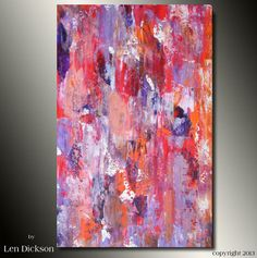 Original Abstract Palette Knife Painting Modern by LenDickson