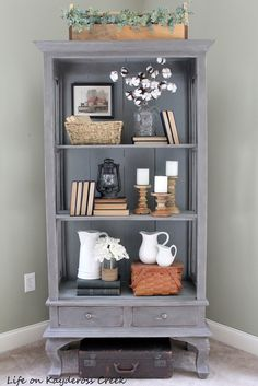 Antique Cabinet Makeover by My Life On Kaydeross Creek   Feature @ #FridaysFurnitureFix-91