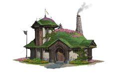 ArtStation - A folk house design, Pengzhen Zhang