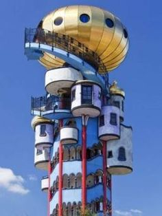 One of the last projects of F. Hundertwasser.