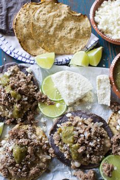 Hearty ground beef spiced with garlic, chili powder, cumin then finished off with a hint of freshness from lime juice are the ultimate weeknight topping for tostadas. @beeflovingtx #ad #tostadas #tostadanight #groundbeef #delicious #party | sweetlifebake.com @sweetlifebake