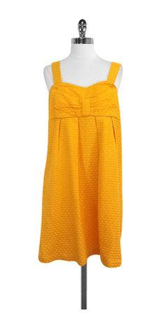 See by Chloe Mustard Yellow Silk & Cotton Dress