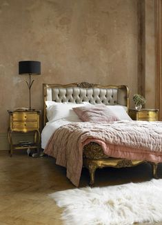 Gorgeous Gilded French Bed from Graham & Green. Put a little rococo in your bedroom.