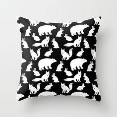 'Polar animals' Throw cushion available at www.elisamac.com