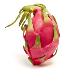 Dragon Fruit  Also known as Pitaya or Pitahaya, Dragon fruit is a beautiful fruit grown in South East Asia,Mexico, Central and South America and Israel. The plant is actually a type of cactus and the fruit comes in 3colours....2 have pink skin but with different colored flesh(one white, the other red),while another type is yellow with white flesh.