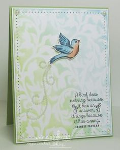 Our Daily Bread Designs Stamp sets: Sperad Your Wings, ODBD Custom Dies: Birds and Nest